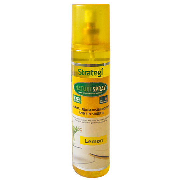 Herbal Strategi Naturespray - Herbal Room Disinfectant & Freshener, Lemon, 250 ml