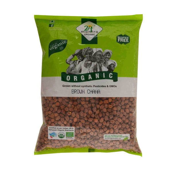 24 Mantra Brown Channa  Whole, 1Kg