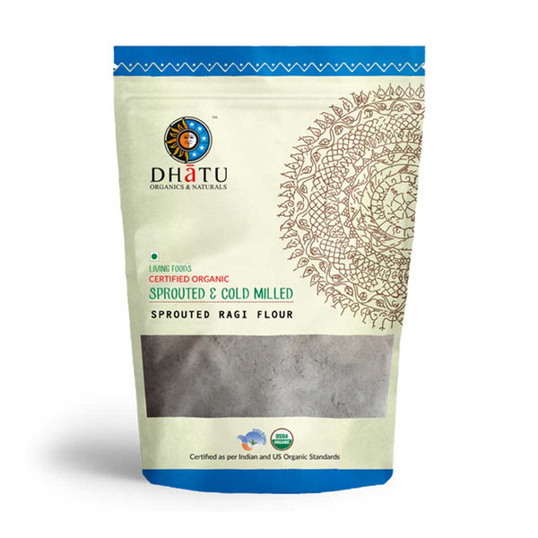 Dhatu Sprouted Ragi Flour (Cold Milled & Stone Ground) 500g