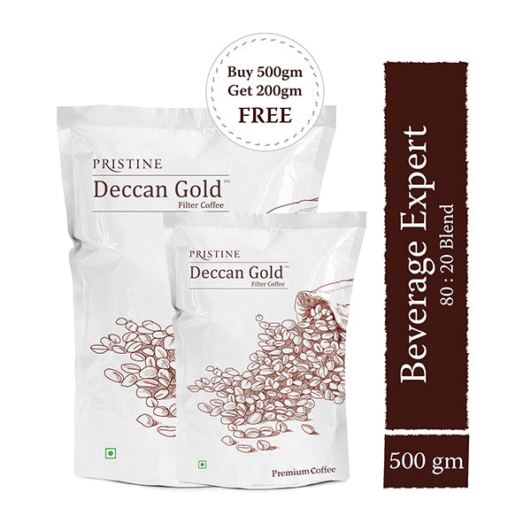 Pristine Deccan Gold - Premium Filter Coffee, 80:20 Blend, 500g