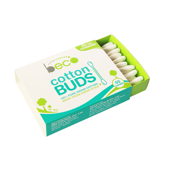 Beco Cotton Buds With Paper Stick- 60 Swabs