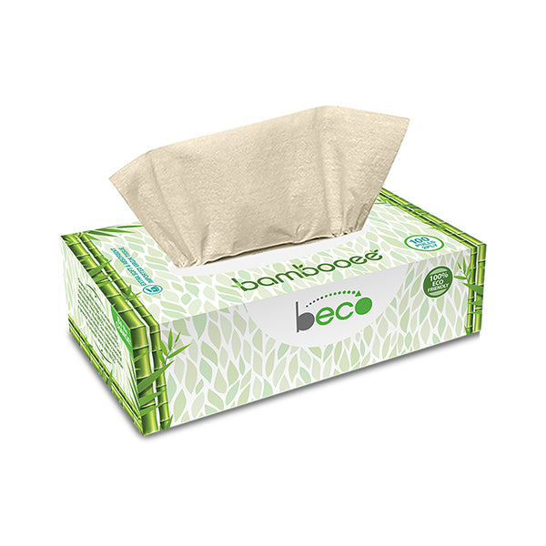 Beco Sustainable Bamboo Facial Tissues - 100 Pieces