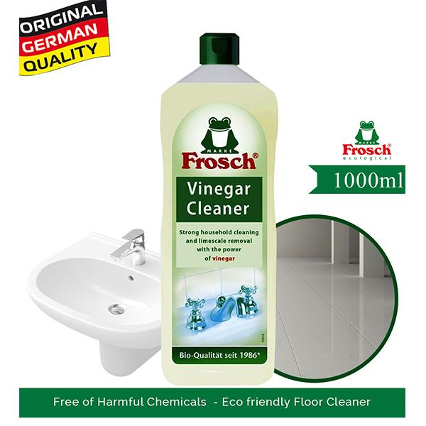 Frosch Floor Cleaner - Vinegar, Strong Against Stains With The Power Of Vinegar, 1LT
