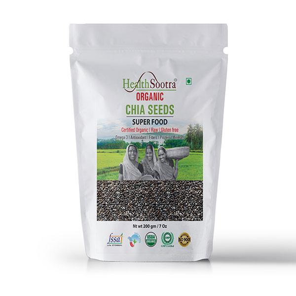 Health Sootra Organic Chia Seeds, 200g