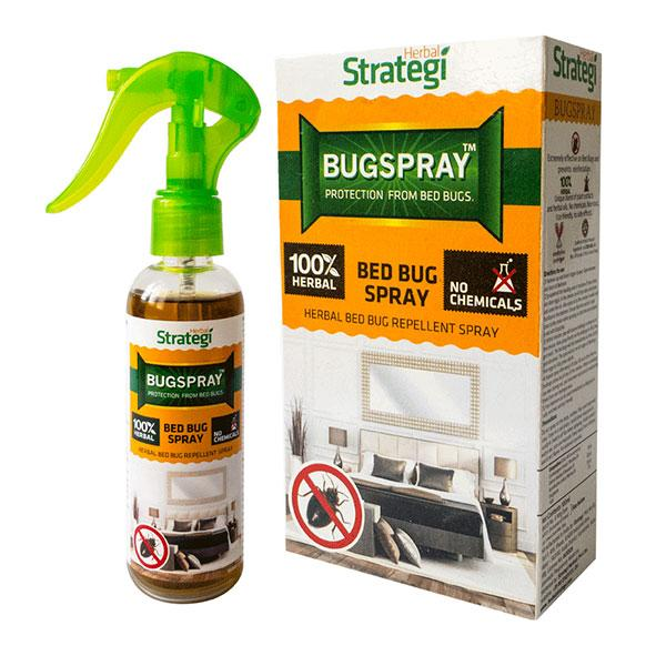 Herbal Strategi Bugspray - Herbal Bed Bug Repellent Spray, 100 ml Pouch