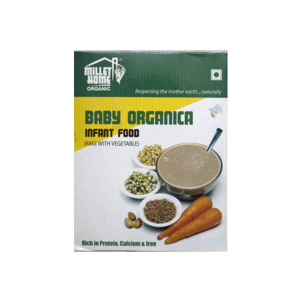 Millet Home Organic Baby Organica Infant Food - Ragi & Vegetables, 400gm