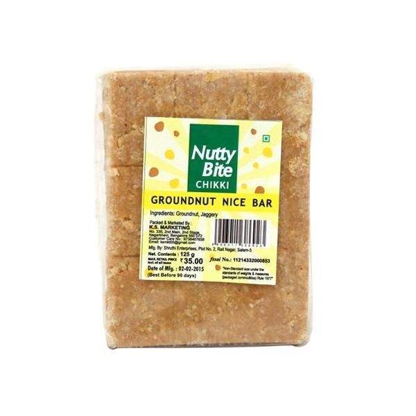 Nutty Bite Groundnut Nice Bar, 125g