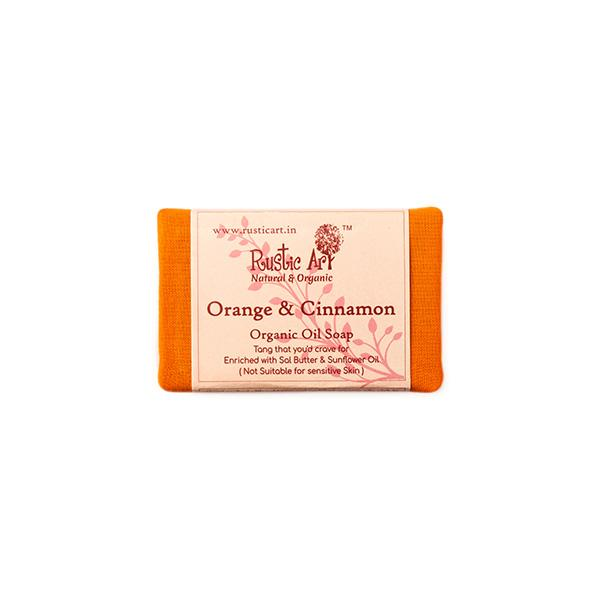 Rustic Art Orange & Cinnamon Soap, 100g