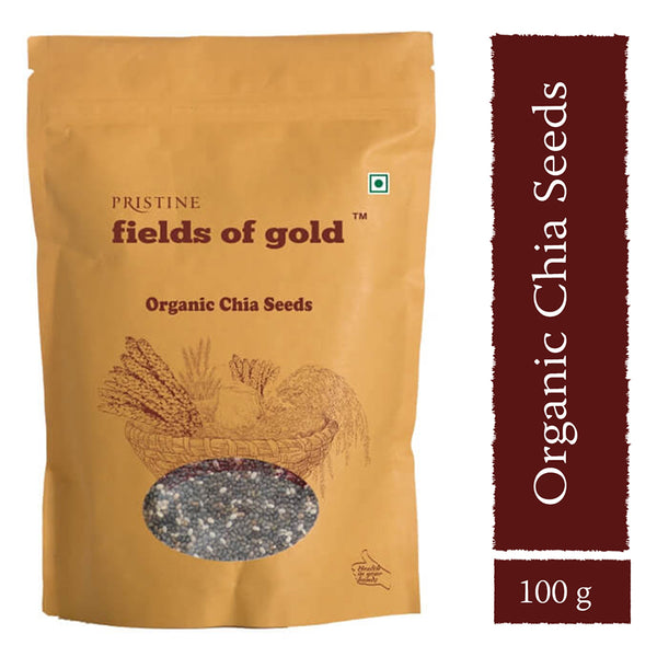 Pristine Fields of Gold - Organic Chia Seeds, 100g
