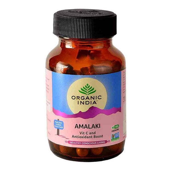 Organic India Amalaki - 60 Capsules Bottle