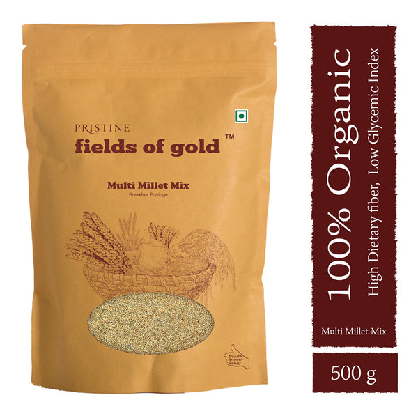 Pristine Fields of Gold - Organic Multi Millet Mix, 500g