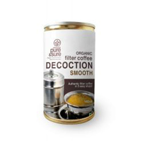 Pure & Sure Organic Filter Coffee Decoction, 160ML- Smooth