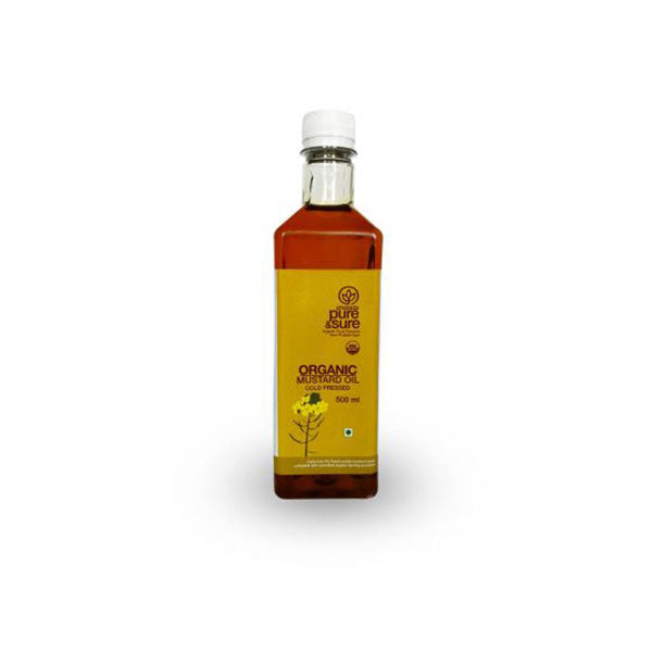 Pure & Sure Organic Mustard Oil, 500 ML