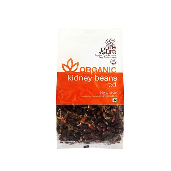 Pure & Sure Organic Rajma / Kidney Beans, 500GM