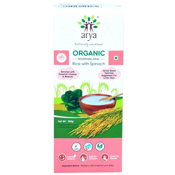 Arya Nourishing Meal-Rice with Spinach, 300g