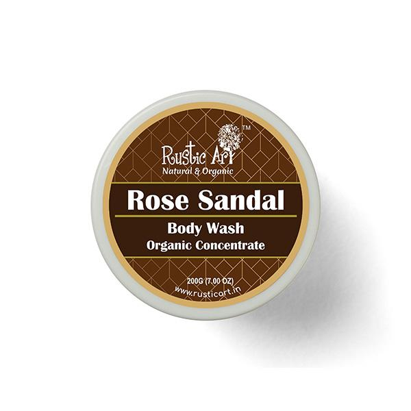 Rustic Art Rose Sandal Body Wash Concentrate, 100g
