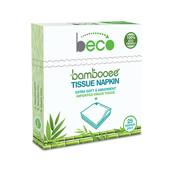 Beco Sustainable Bamboo Serving Napkins - 25 Pieces