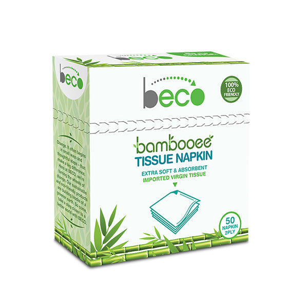 Beco Sustainable Bamboo Serving Napkins - 50 Pieces