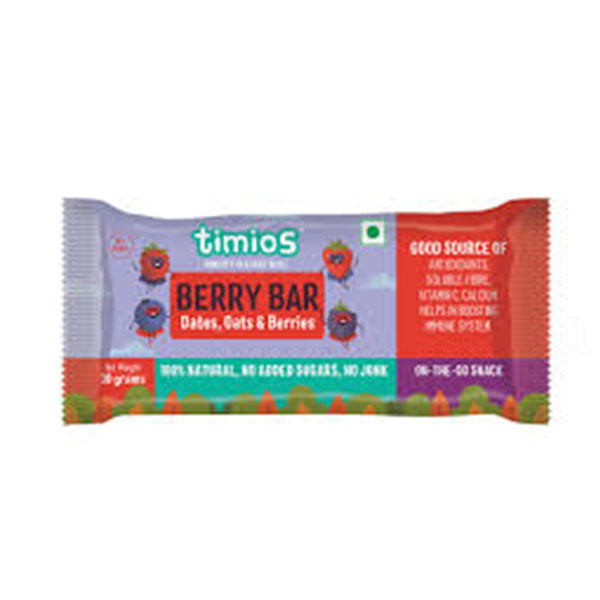Timios Energy Bars - Berry, 30g