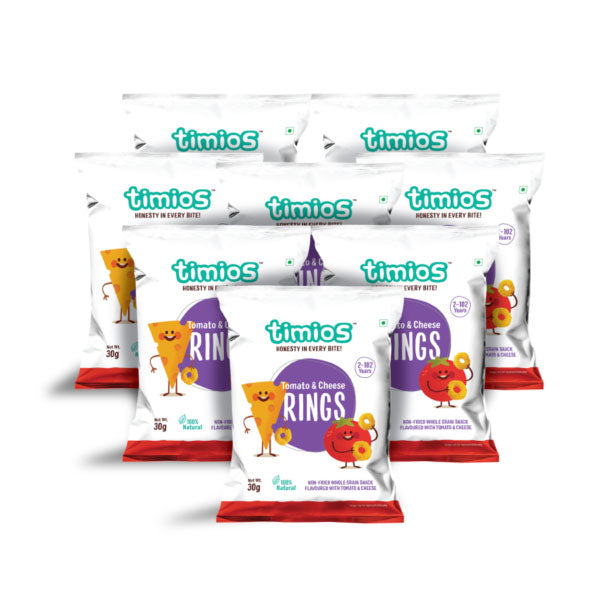 Timios Snacks - Rings, Tomato & Cheese, 30g