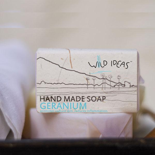 Wild Ideas Hand Made Soap - Geranium, 100gm