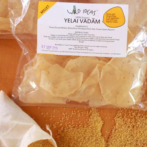 Wild Ideas Organic Yellai Vadaams - Thinai - Foxtail Millet, 200gm