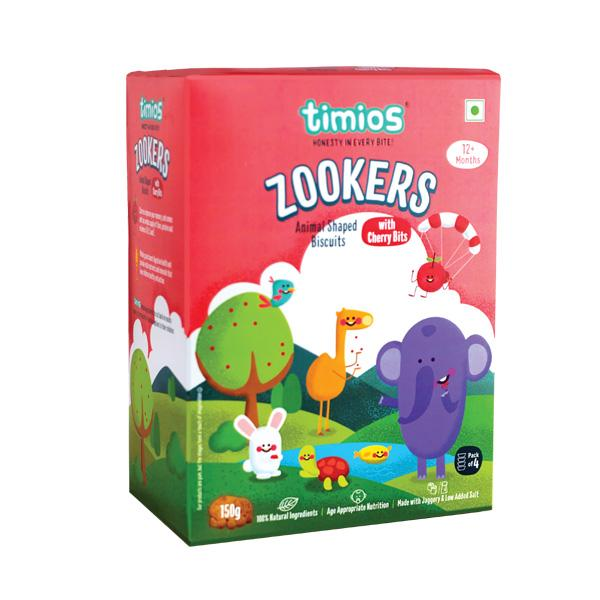 Timios Zookers, w cherry Bits, 150g