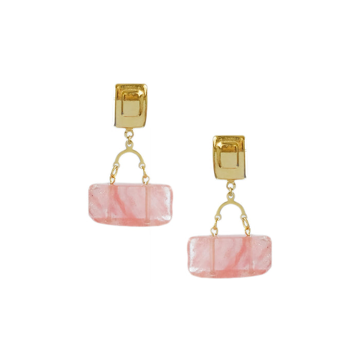 Baguette Earrings in Rose