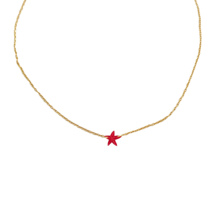Una Santan Necklace in Red