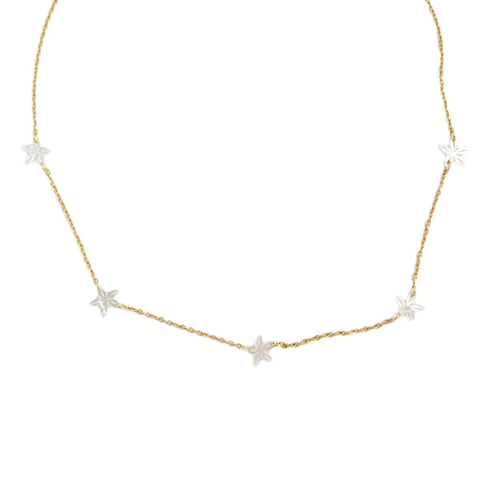 Cinque Santan Necklace in Ivory