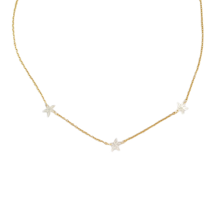Tre Santan Necklace in Ivory