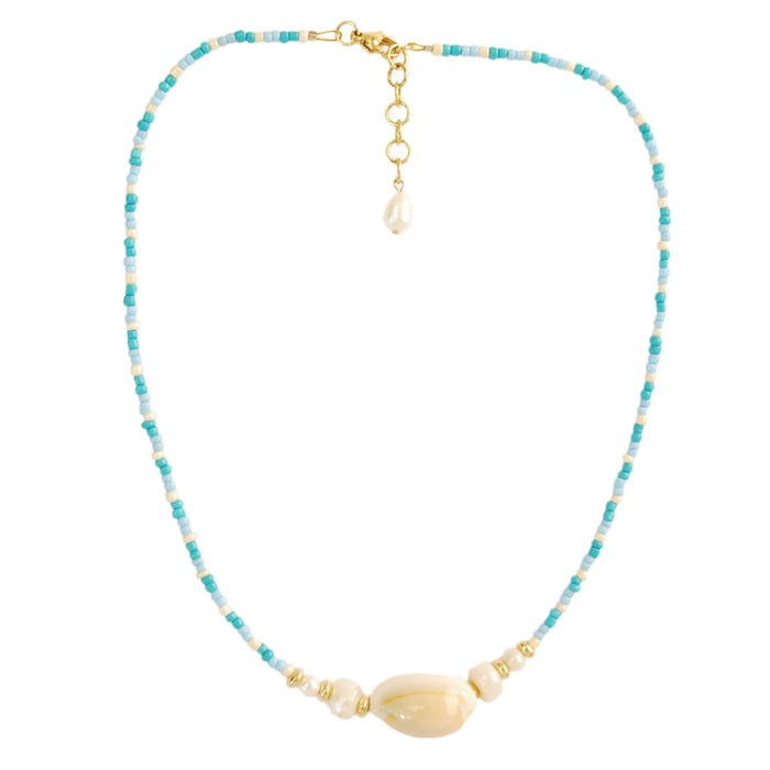 Gani Necklace in Aqua