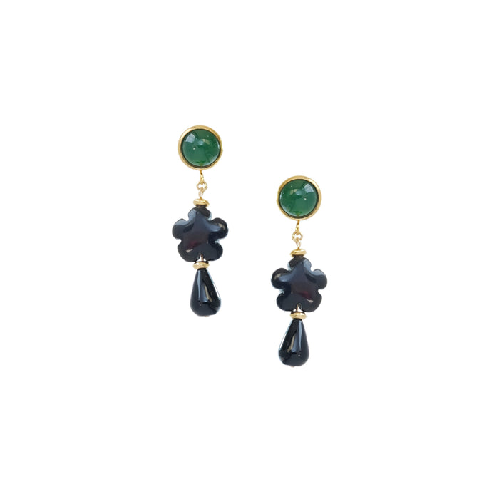 Cala Earrings in Ebony