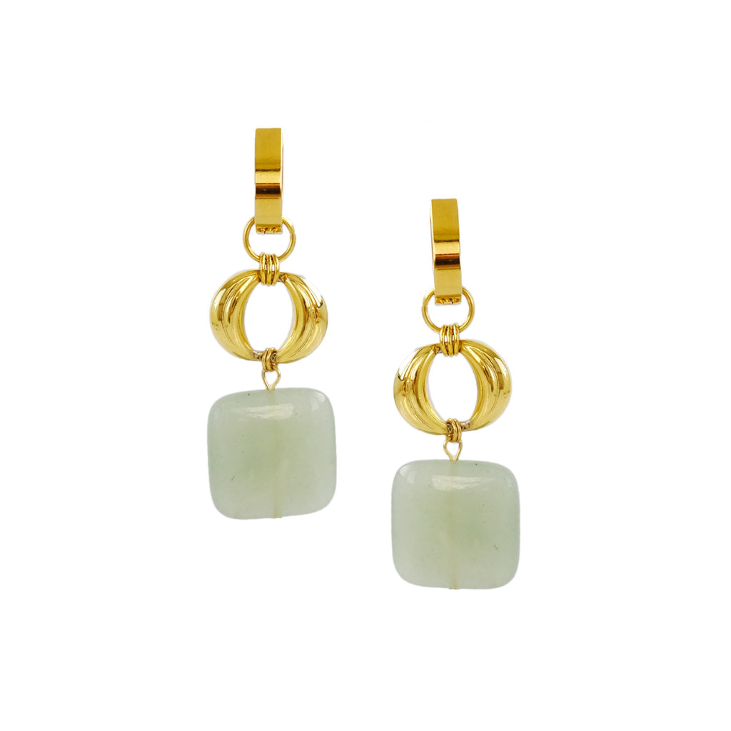 Carré Charms in Jade