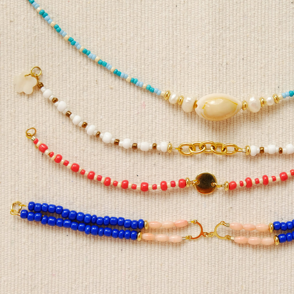 Chi Bracelet in Coral and Blue
