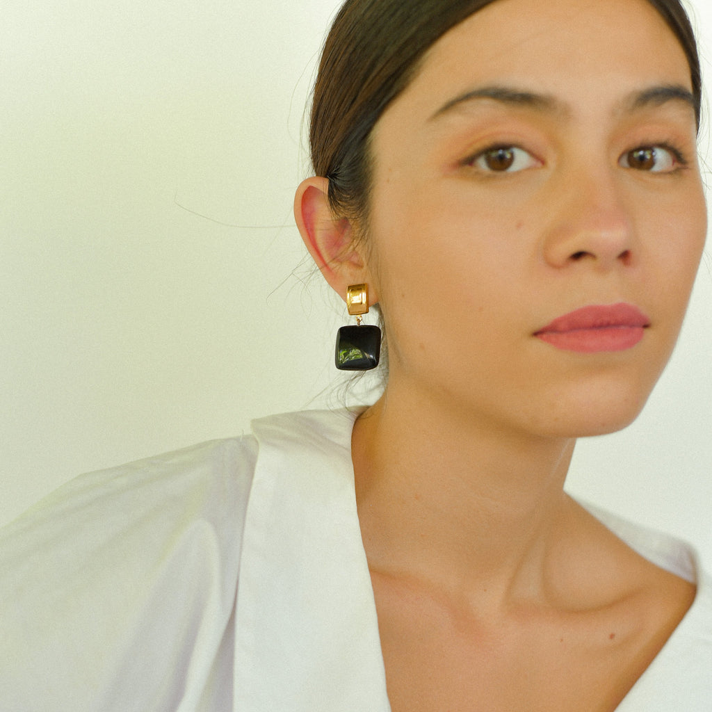 Tati Earrings in Ebony