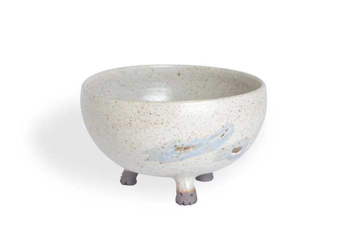 Speckled Bowl with Three Legs