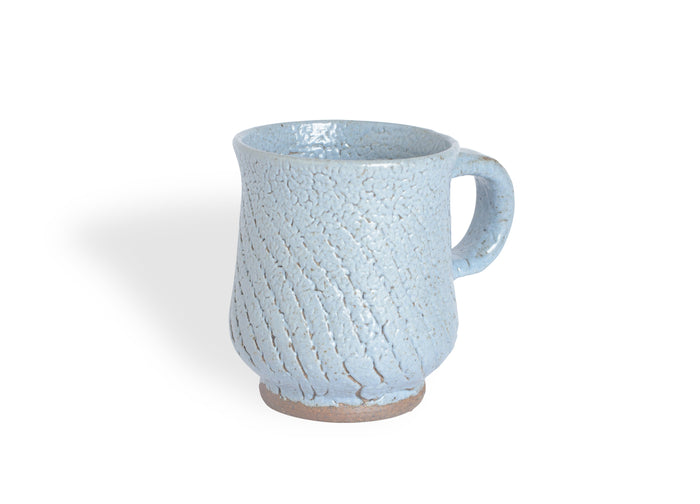 Grained Blue-Gray Mug