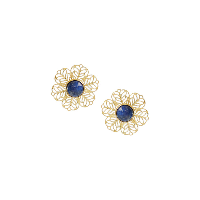 Lia Detachable Earrings in Lapis Lazuli