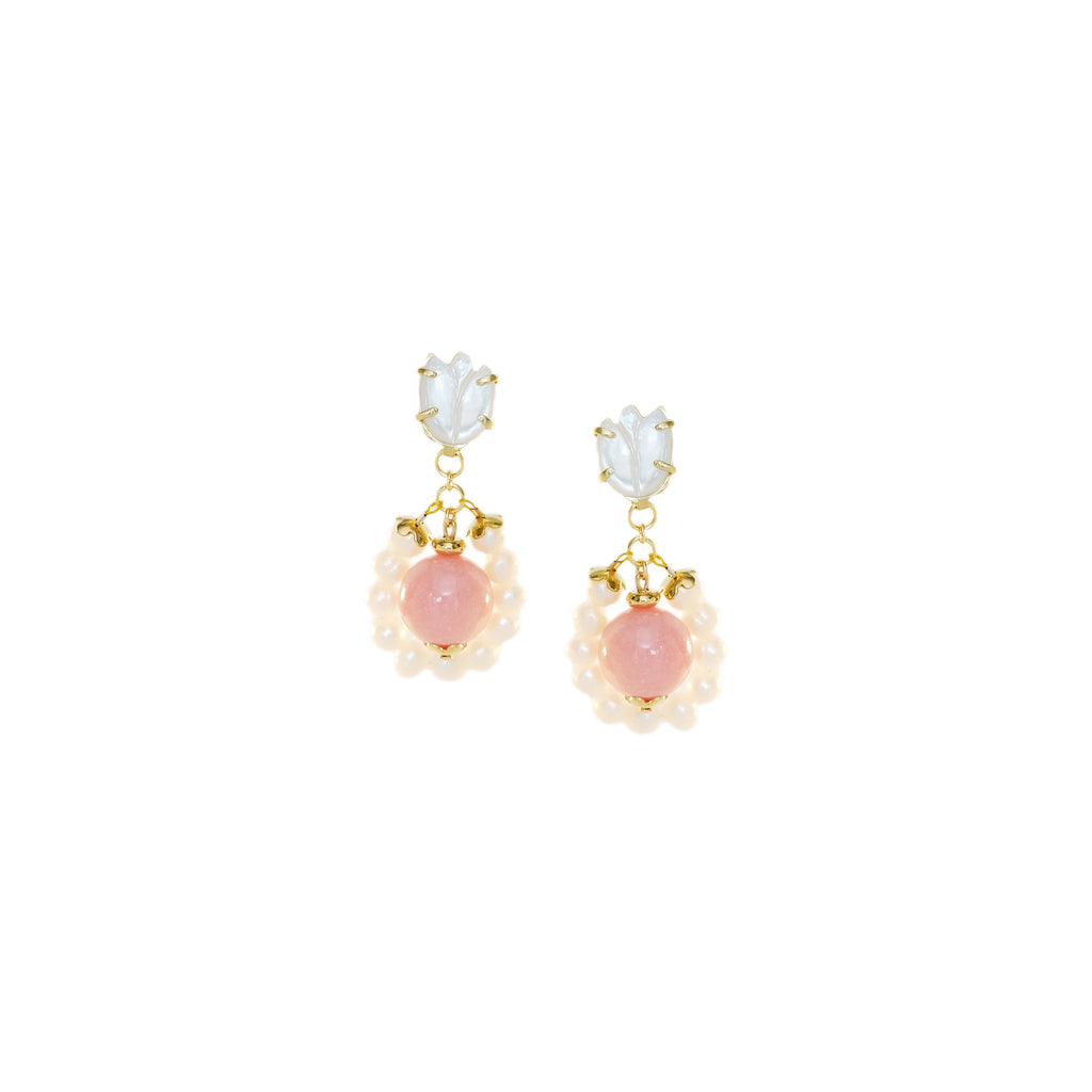 Tali Danglers in Baby Pink