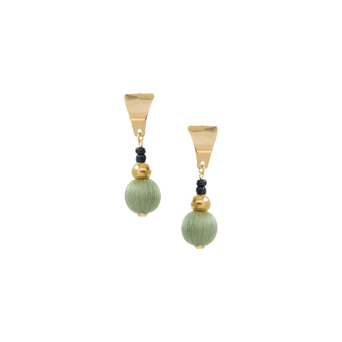 Rissa Earrings in Emerald