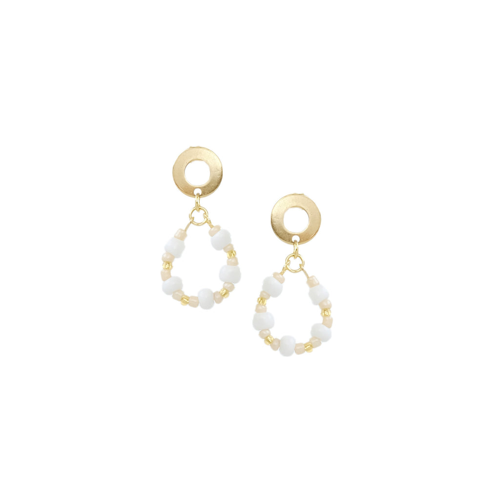 Rona Earrings in Cream