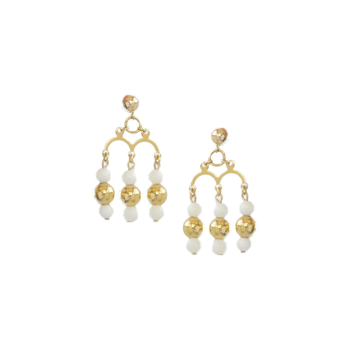 Roset Earrings in Gold