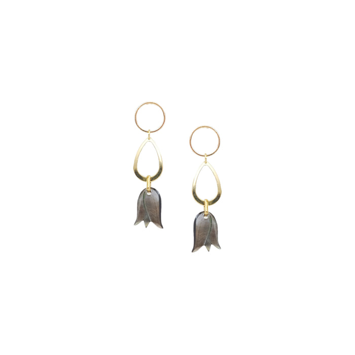 Terry Earrings in Ebony