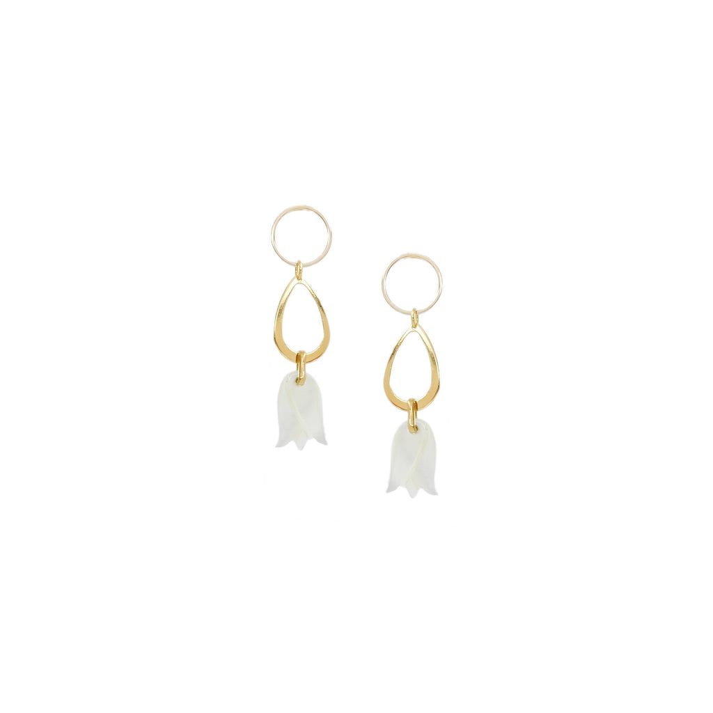 Terry Earrings in Ivory
