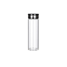 Load image into Gallery viewer, 17 oz. Borosilicate Glass Water Bottle w/ Leather Carrying Sleeve