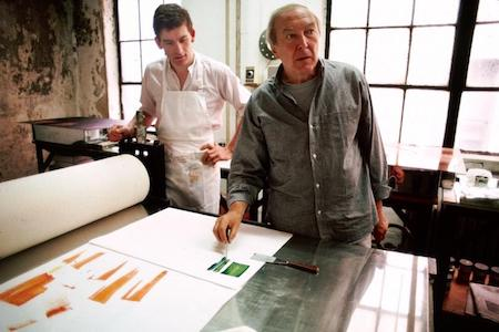 Richard Spare (left) and Jasper Johns (right)