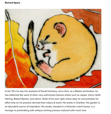 Richard Spare featured by .ART in their article 'The Art of Printmaking' 22 Jan 2021