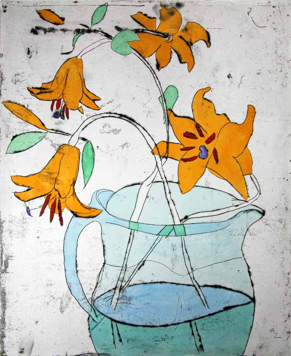 Aqua Jug - Limited Edition drypoint and watercolour fine art print by artist Richard Spare
