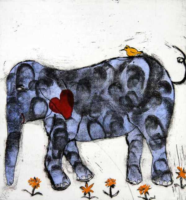 Friendship - Limited Edition etching, drypoint and watercolour fine art print by artist Richard Spare